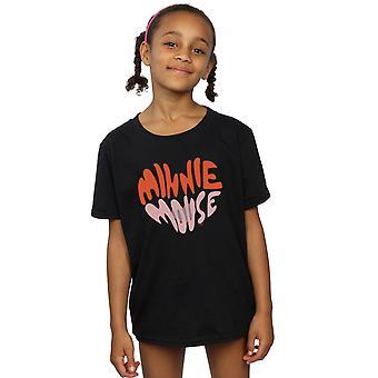 Disney meninas Minnie Mouse coração em forma de t-shirt