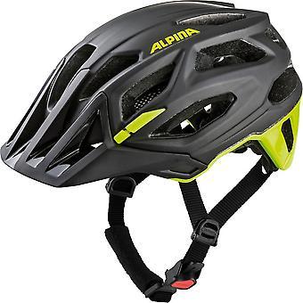 Casco della bici del cece alpina / / nero/giallo fluo