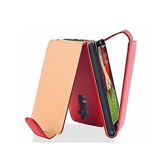 Cadorabo gevaldekking voor LG G2 gevaldekking-telefoon geval in flip design in getextureerde faux leder-gevaldekking geval geval geval boek vouwen stijl