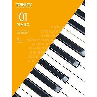 Piano examen bitar & övningar 2018-2020 Grade 1, med CD & undervisning anteckningar - Piano 2018-2020