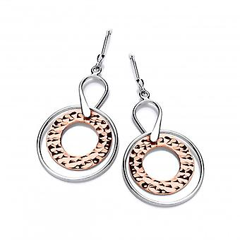 Cavendish French Sterling Silver and Copper Astral Earrings
