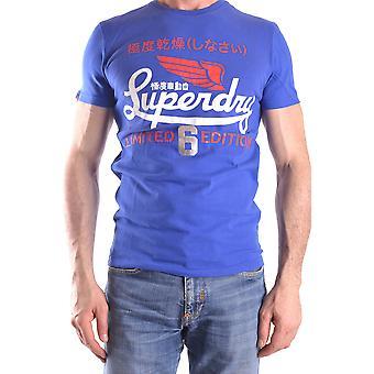 Superdry Ezbc114006 Männer's blaue Baumwolle T-shirt
