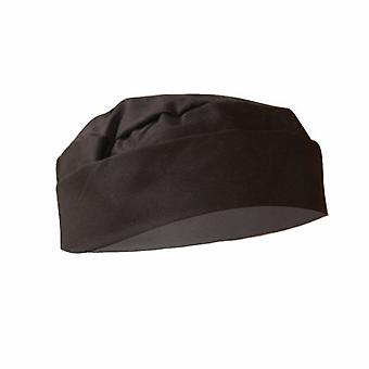 Dennys Mens Black Skull Cap / Chefswear (Pack of 2)