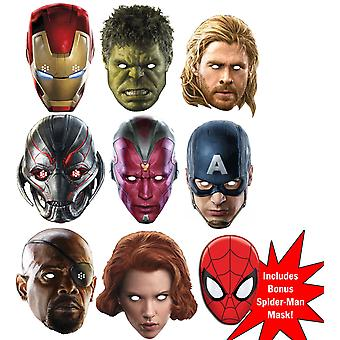 Marvel's Avengers Age of Ultron Super Hero Set of 9 Variety Fancy Dress Mask Pack