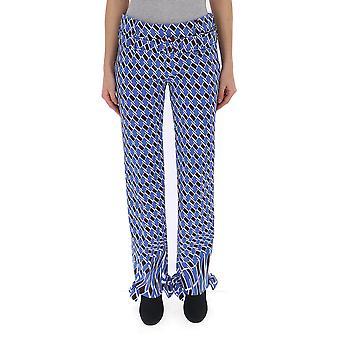 Prada Light Blue Polyester Pants