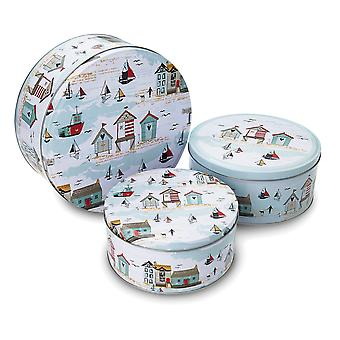 Cooksmart Beside the Seaside Set of 3 Round Cake Tins