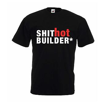 Skit varmt Builder svart Tshirt
