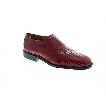 Giorgio Brutini Felix  Mens Red Leather Dress Slip On Loafers Shoes