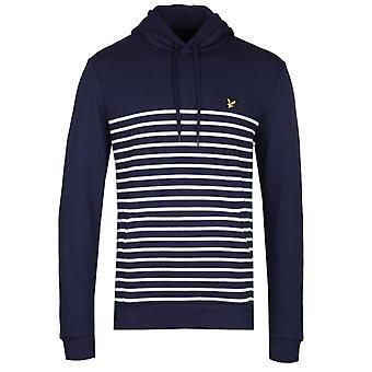 Lyle & Scott Navy & vit rand hoodie