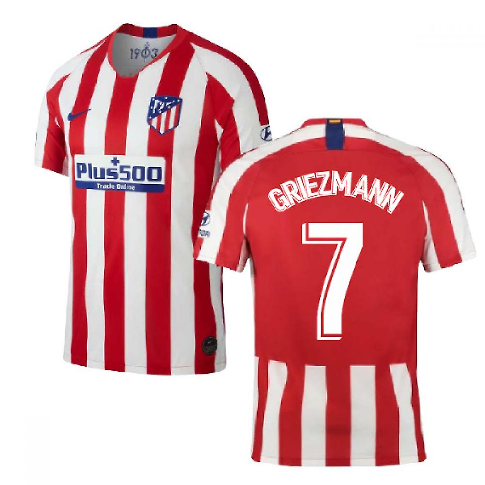 best service a8844 89c61 2019-2020 Atletico Madrid Home Nike Football Shirt (GRIEZMANN 7)