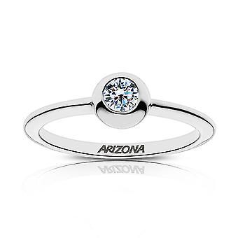 University of Arizona diamant ring i sterling sølv design af BIXLER
