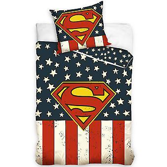 Superman USA single paplan huzat szett - európai méret
