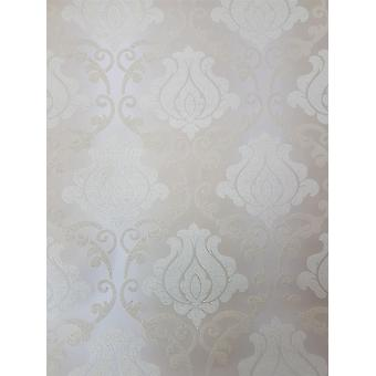 Beige Gold Damask Glitter Wallpaper Sparkle Textured Vinyl Washable A.S Création