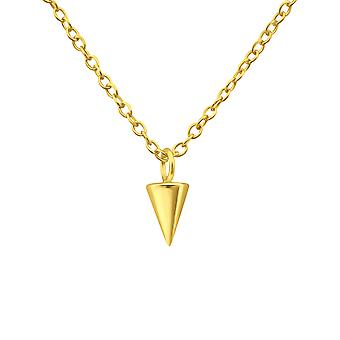 Cone - 925 Sterling Silver Plain Necklaces - W35278x