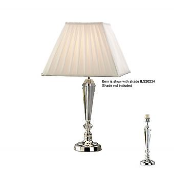 Diyas Freya Crystal Table Lamp Without Shade 1 Light Silver Finish