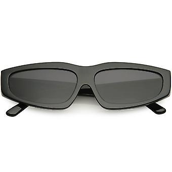 Retro Fashion 90s Style Thick Frame Plastic Rectangle Sunglasses 60mm