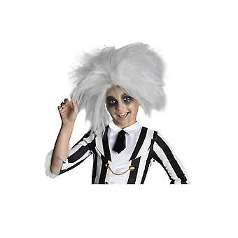 Kids Beetlejuice Grey Wig Halloween 80s Film Fancy Dress Costume Accessory