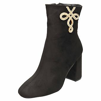 Koi Footwear Block Heel Faux Suede Ankle Boots
