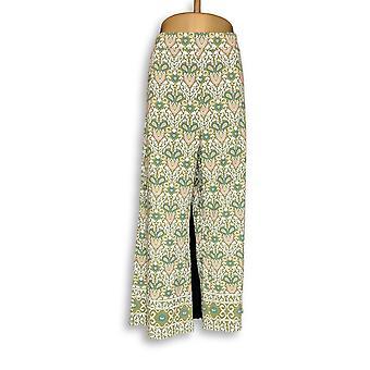 C. Wonder Women's Petite Hose XLP Engineered Floral Fliesen Druck grün A288831