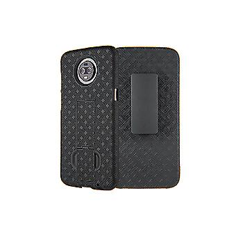 Verizon Shell Holster Combo Case for moto z3 - Black