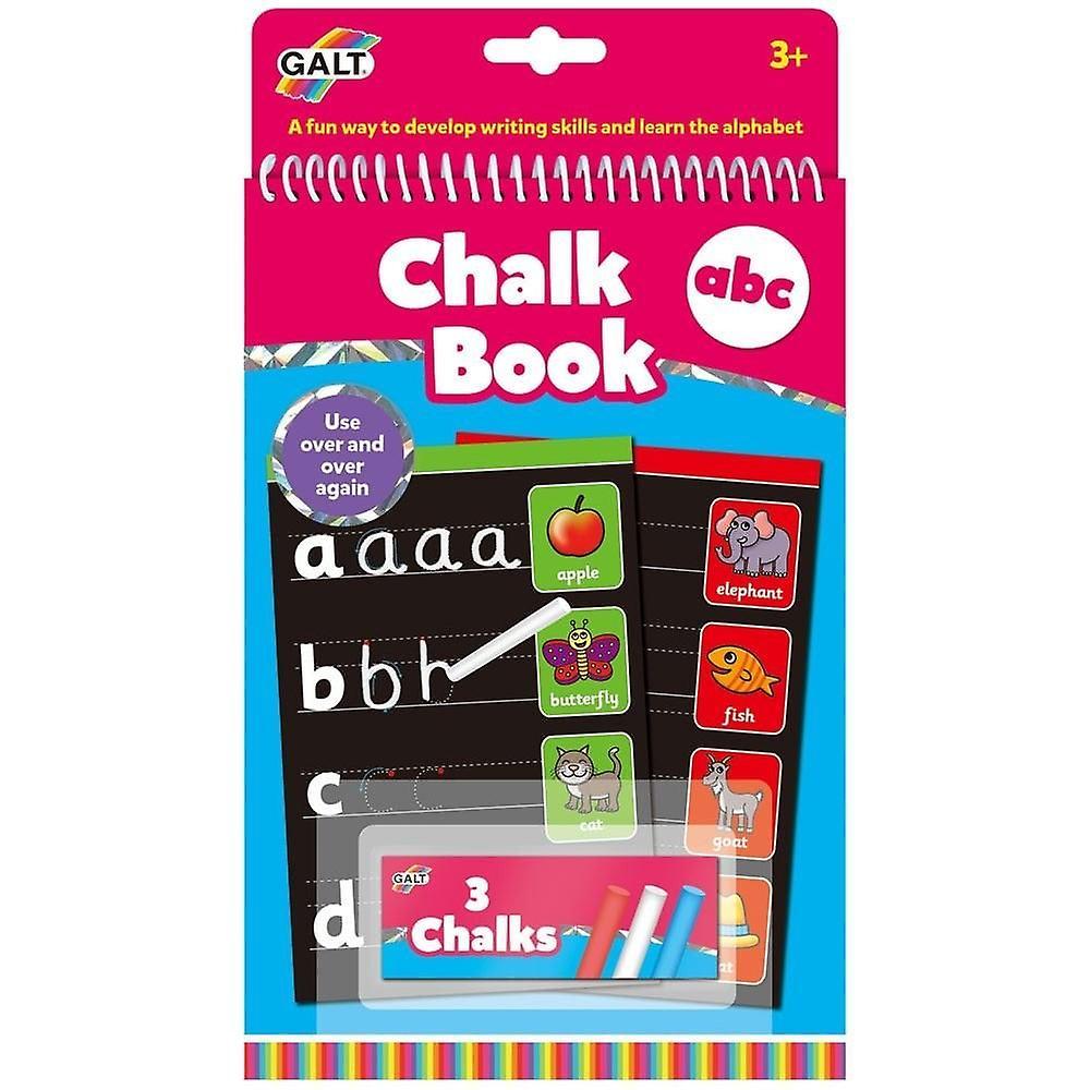 Galt Chalk Book - A  B C  - Re-usable Book & Chalks