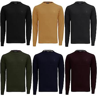 James Darby Mens Alpha Long Sleeve Casual Crew Neck Pullover Sweater Jumper Top