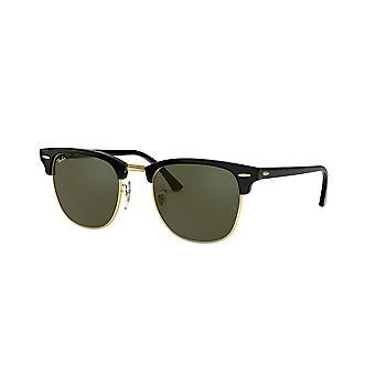 Ray-Ban Clubmaster RB3016 W0365 Ebony Arista Crystal Green Sunglasses