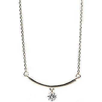 Diamantcollier  Collier - 14K 585/- Gelbgold - 0.1 ct.