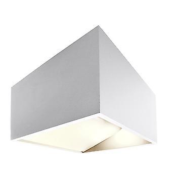 Lampe à LED murale Dado 5W 3000 K IP20 incl. alimentation en aluminium blanc