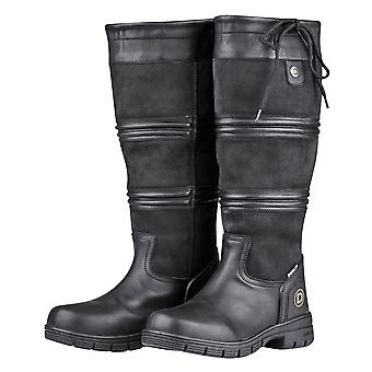 Dublin Husk Ii Womens Tall Leather Country Boot - Black