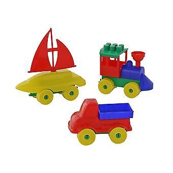 Polesie52360 Set-Young Traveller Bau Spielzeug Set (23 Stück)