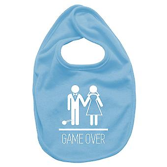 Newborn turquoise bib dec0142 game over stag do funny