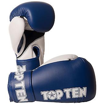 Top Ten XLP boxe gants bleu/blanc