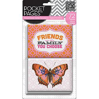 Me & My Big Ideas Pocket Pages Themed Cards 72/Pkg-Friends
