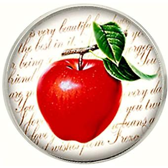 Bassin and Brown Apple Lapel Pin - Red