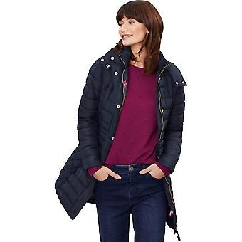 Joules Womens Thirlmere Longline Hooded Padded Coat Jacket