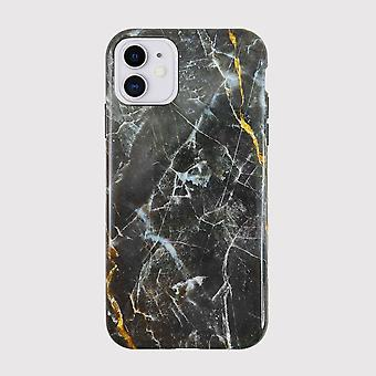 Eco Friendly iPhone 11 Case Printed Gold Dark Star Marble Back Shell