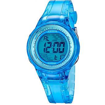 Calypso K5688-1 katsella - katsella chronograph blue nainen