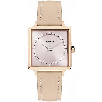 Watch Amalys ROSE - steel Pink Rose pink woman leather strap dial IP