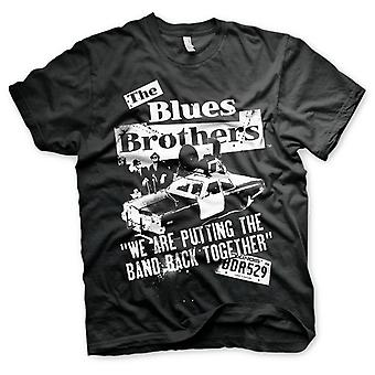 The Blues Brothers Jake and Elwood Police Car Official T-Shirt