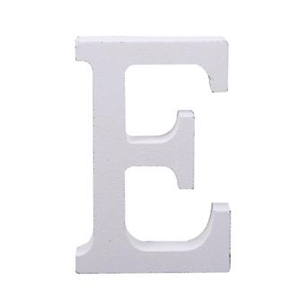 White Large Capital Alphabet Letter-E