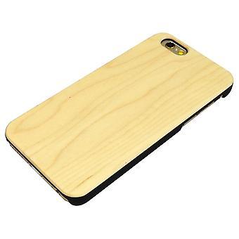 لفون 6S، 6 حالة، أنيقة عالية الجودة القيقب على نحو سلس غطاء خشبي وقائي