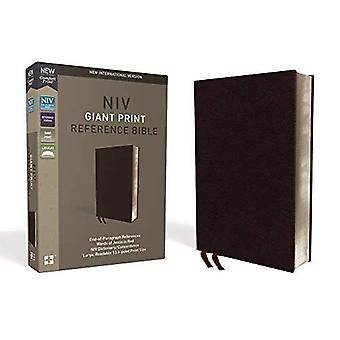 NIV, referanse Bibelen, gigantiske utskrift, limt skinn, burgunder, røde bokstaven Edition, indeksert, komfort Print