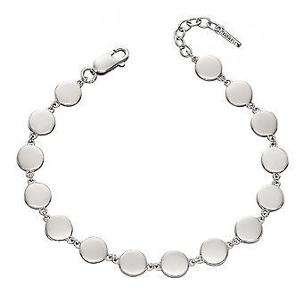 Fiorelli Silver Flat Disc Bracelet