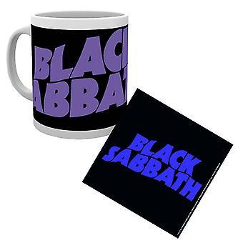 Musta sapatti muki ja coaster band logo master of reality uusi virallinen lahjasetti