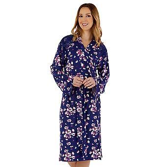 Slenderella GL55704 Women's Gaspe Floral Robe Dressing Gown