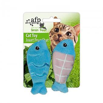 AFP Green Russ Juguete. Full Catnip -Pesca (Katten , Speelgoed , Pluche en veren)