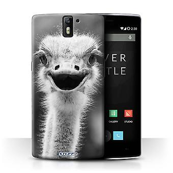 STUFF4 Case/Cover for OnePlus One/Ostrich/Emu/Mono Zoo Animals