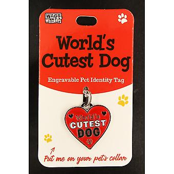 Wags & Whiskers Pet Identity Tag - Worlds Cutest Hund