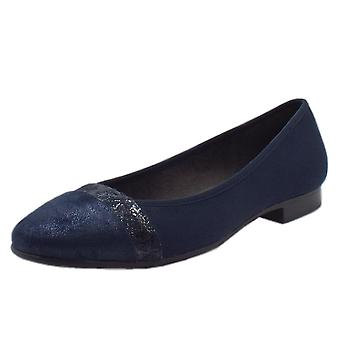 Soft Line 22165 Orpington Wide Fit Ballet Pump In Navy